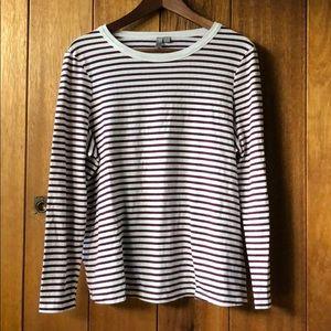 ASOS maroon striped maternity top
